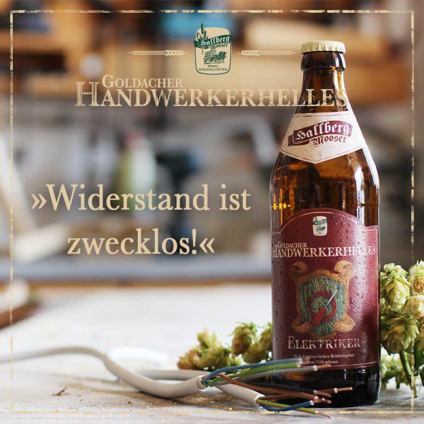 Hallbergmooser-Brauspezialitaeten-Shop-Goldacher-Handwerkerhelles-Elektriker-Spruch