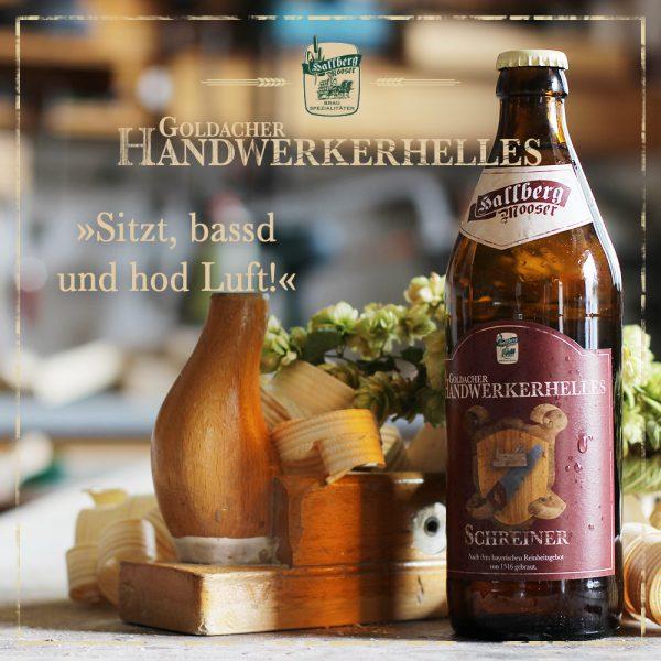 Hallbergmooser-Brauspezialitaeten-Shop-Goldacher-Handwerkerhelles-Schreiner-Spruch